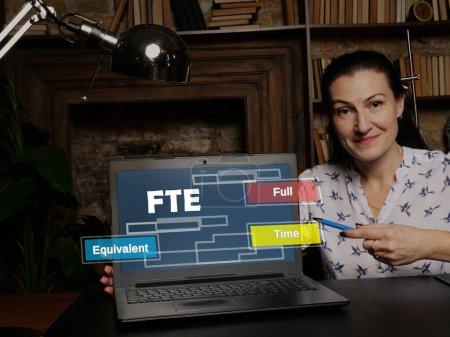 Photo pour Équivalent temps plein ETP. Concept d'entreprise et de finance à l'écran de l'appareil - image libre de droit