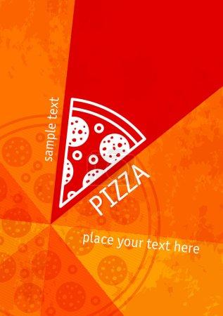 Illustration pour Pizza grunge vecteur arrière-plan design - image libre de droit