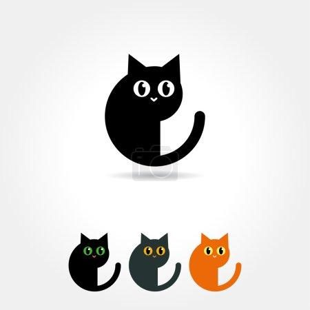 Illustration pour Icône de chat sur fond blanc - image libre de droit