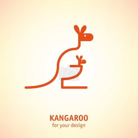 Kangaroo with baby icon