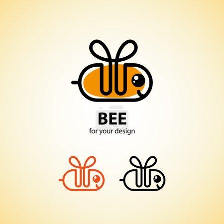 Bee icon set