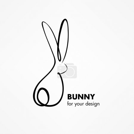 Bunny or Rabbit Sketch line icon...