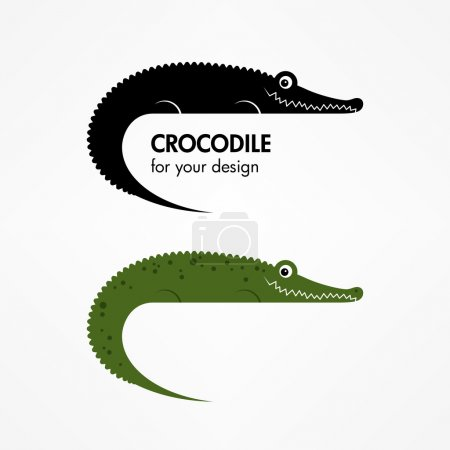 Crocodile icon set