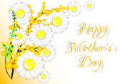 Přání s květinami na den matek