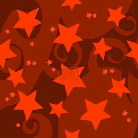 Cartoon red stars pattern.