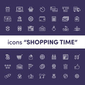 Icons shopping illustration