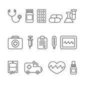 Medical line ikony