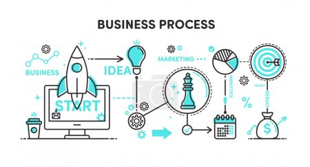 Illustration Business process