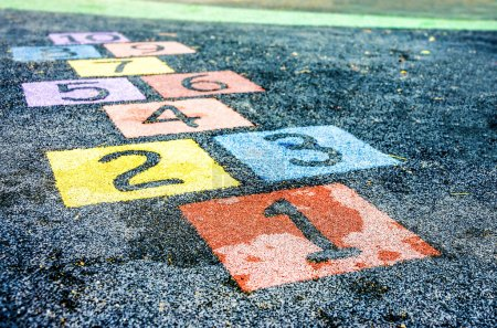 Photo for An image of colorful number on playground - Royalty Free Image