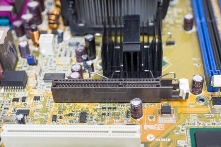 Photo for Computer motherboards, Focus PCI express - Royalty Free Image