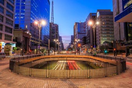 Paulista Avenue at twilight in Sao Paulo, Brazil...