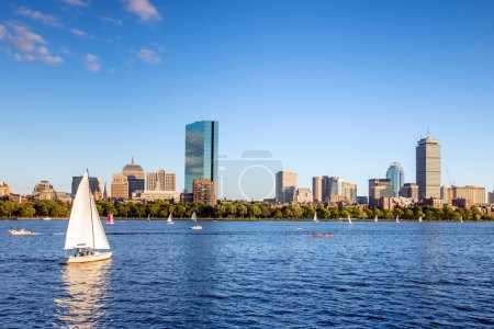 View of Boston Massachusetts Skyline