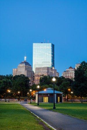 The Boston Common at night