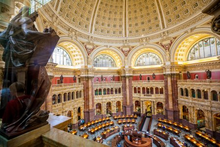 Main Hall of the Library of Congress ceiling DC