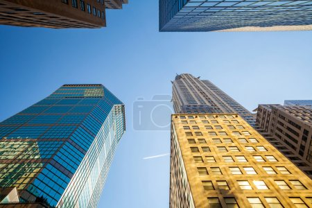Looking up in Manhattan, New York