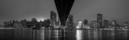 Photo for Queen Bridge and New York skyline inblack and white - Royalty Free Image