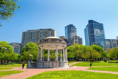 Boston Public Garden in Massachusetts