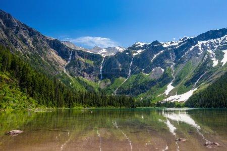 Scenic mountain views, Avalanche Lake, Glacier National Park Mon