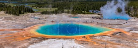 Photo for Yellowstone's grand prismatic spring - Royalty Free Image