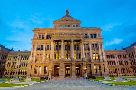 Texas State Capitol Building in Austin, TX. at twilight
