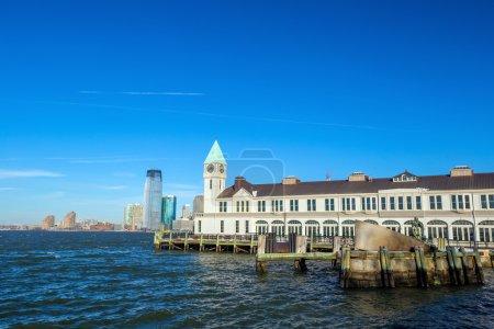 Pier A in Battery Park Manhattan skyline New York