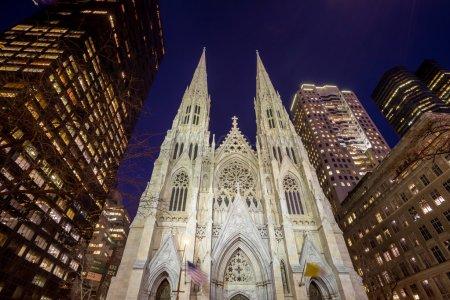 Photo pour Cathédrale Saint-Patrick à New York - image libre de droit