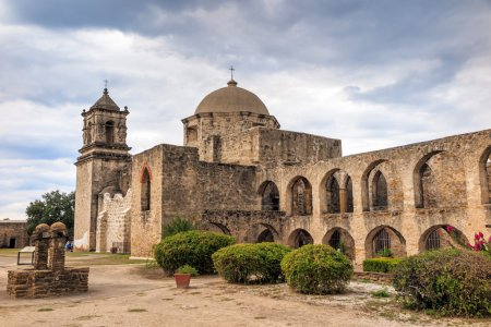 Photo for Mission San Jose is a historic Catholic mission in San Antonio, Texas, USA - Royalty Free Image