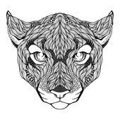 Puma head tattoo