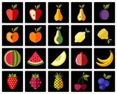 Fruits color icons set