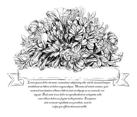 Vintage elegant card with flowers