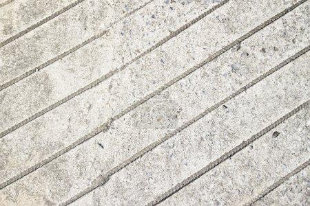 Photo pour Textures en béton, y compris diagonale estampillée - image libre de droit