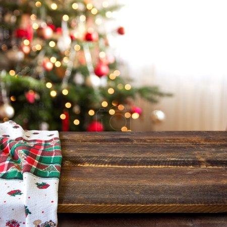 Photo pour Fond de table de Noël - image libre de droit