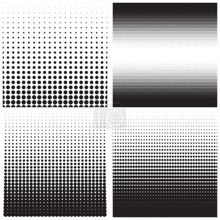 Illustration for Vector halftone dots. Black dots on white background. - Royalty Free Image