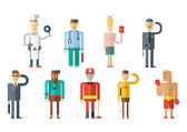 Profession people collection. Flat style design.