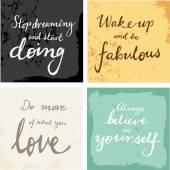 4 hand written inspirational  words