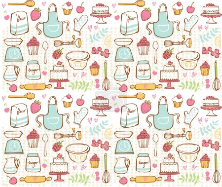 Baking kitchen icons