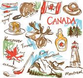 Canada icons set