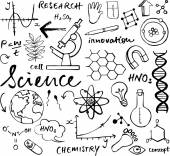 Science icons doodle