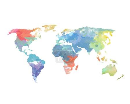 Photo pour Une carte du monde aquarelle - image libre de droit