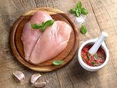 """Постер, картина, фотообои """"Raw chicken breast """""""