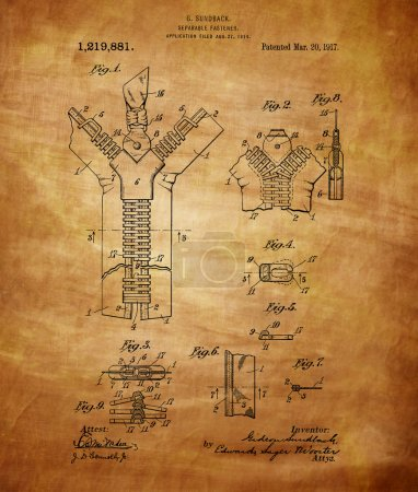 Zipper Patent Art