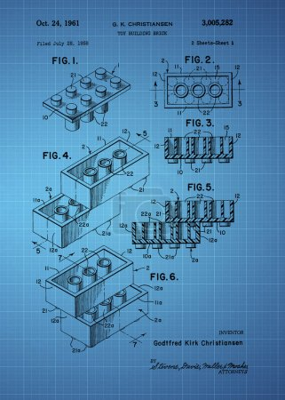 Lego Toy Building Brick Patent