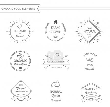 Bio-Etiketten und -Elemente