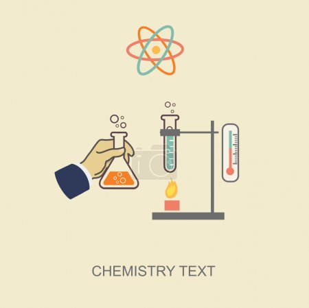 Chemistry infographic vector illustration, infographics template
