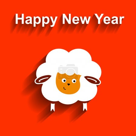 Symbol of 2015. Sheep,  Vector element for New Years design. Illustration  2015 year