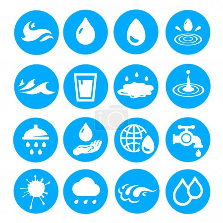 Water drop shapes collection. Vector icon set