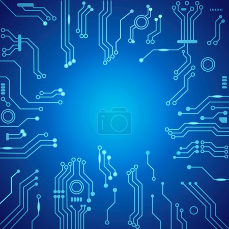 Illustration for Abstract technology circuit blue board,  Vector background - Royalty Free Image