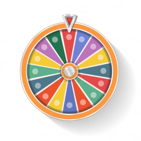 Illustration for Colorful wheel of fortune vector - Royalty Free Image