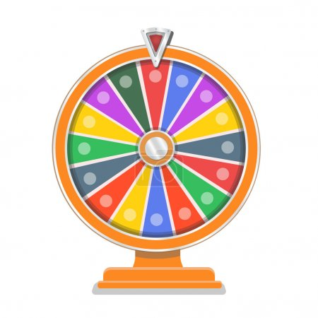 Illustration for Wheel of fortune flat design template vector - Royalty Free Image