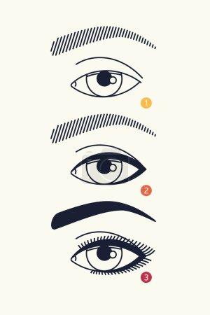 Linear eye makeup scheme template
